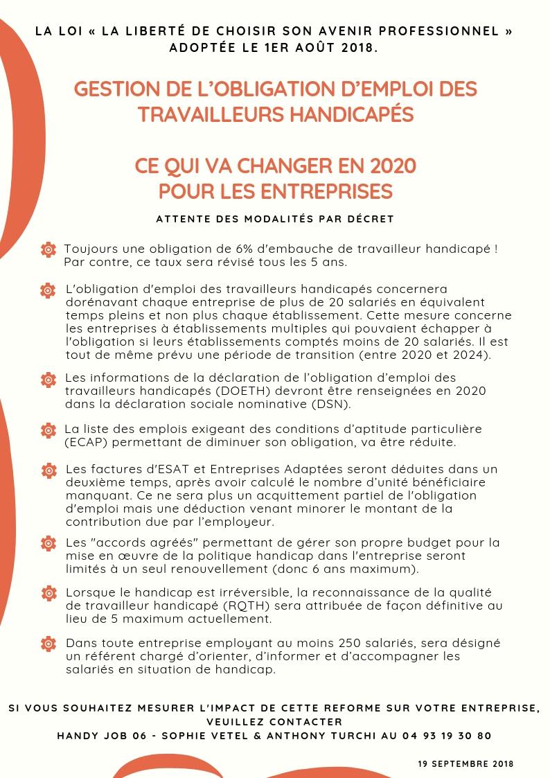 Obligation d emploi th ce qui va changer en 2021
