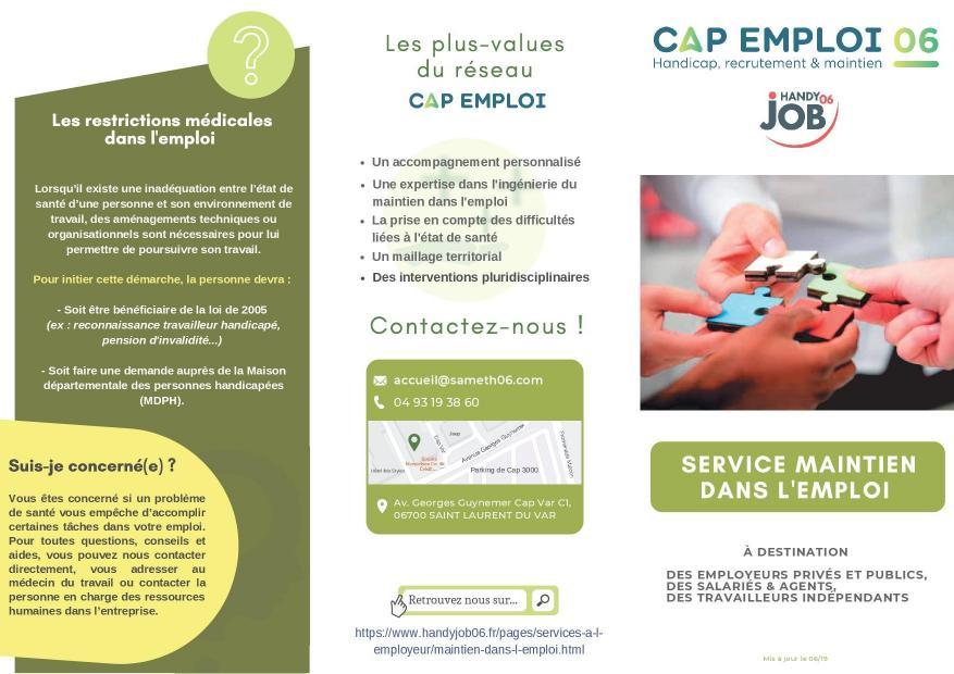 Plaquette service maintien 20191